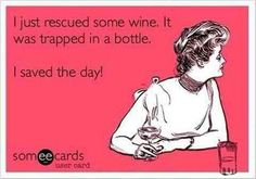Save the wine!!