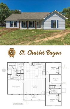 Charles Floor Plan By Builder Manuel Builders For Our New Homes In Lafayette And Lake La