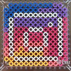 Easy Perler Bead Patterns, Melty Bead Patterns, Diy Perler Beads, Perler Bead Art, Beading Patterns, Pixel Art, Hamma Beads Ideas, Friendship Bracelets Designs, Beaded Bookmarks
