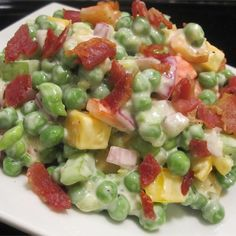 """Green Pea Salad With Cheese 