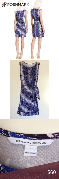 Diane von Furstenberg Della Python dress 4 wrap This dress was only worn a few times, so it's in like-new condition with no signs of wear! Perfect for work or play. It's 100% silk but feels cotton-y. Diane von Furstenberg Dresses