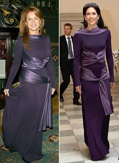 Royals Sharing Clothes (same outfit on two different royals): Sarah, Duchess of York, and Crown Princess Mary Denmark Crown Princess Mary, Princess Kate, Sarah Duchess Of York, Mary Donaldson, Princesa Charlene, Sarah Ferguson, Princess Marie Of Denmark, Estilo Real, Royal Queen