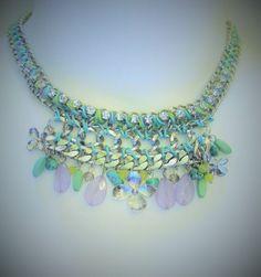 Steve Madden Jeweled Yellow Green Purple Layered Chocker Necklace NWT #SteveMadden #Choker