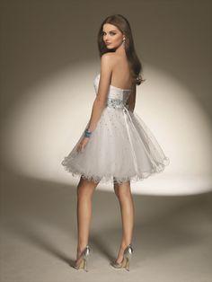 would be a cute wedding reception Dress...