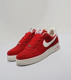 separation shoes 512ac 75a04 Nike AF1 Lo Suede Uni Red Nike Af1, Nike Air Force, Uni, Trainers