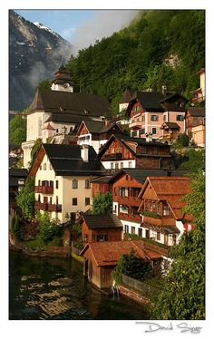 Closeup up Hallstatt, Austria. One of the most charming of Austrian places!