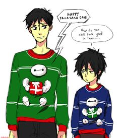 "the cutest ugly sweaters ever ""How do you still look good in that?"" CAUSE HES TADASHI"