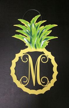 Hey, I found this really awesome Etsy listing at https://www.etsy.com/listing/261005802/reduced-price-pineapple-with-letter-door