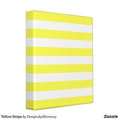 Yellow Stripe 3 Ring Binder