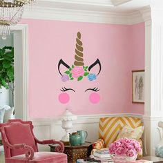 This decal is available in two sizes.  Please specify your color choices for the unicorn in the private note section at checkout!  * Easy to apply and easy to remove  * Removable but not reusable!  * High quality, interior grade matte vinyl  * Please contact us if youd like a custom