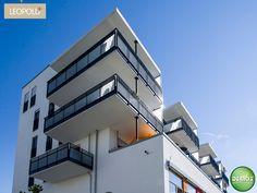 Foto Straßenansicht - Leopold+ #Schwabing #München #Leopoldstraße #Referenz #Fotografie #Photographie #Architektur #Neubau #Neubauprojekt #Dachterrasse #Balkon #Eigentumswohnungen #Demos