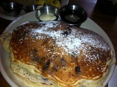 The Universal - Awesome blueberry pancakes - Denver, CO, United States Blueberry Pancakes, Recipe Of The Day, Denver, Meals, Dishes, Restaurants, Colorado Trip, Breakfast, United States