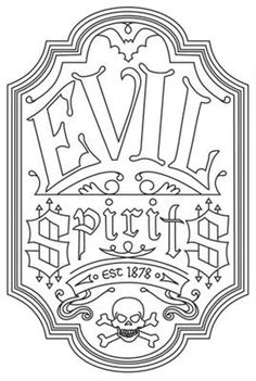 Evil Spirits Apothecary Label_image