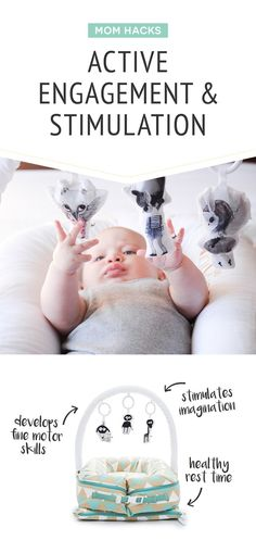 Not only does it safely hold your baby so you can be hands free but can also provide engagement and stimulation to your baby while you get things done! This mom hack is a favourite! Boho Baby Shower, Baby Boy Shower, Minimalist Baby, Toddler Development, Step Kids, Hacks, Gender Neutral Baby, Baby Milestones, Infant Activities