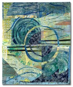 Rosemary Hoffenberg's 'Deep Sea Currents'  art quilt on view at Brush Gallery in Lowell