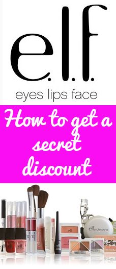 How to get a secret discount at e.l.f Cosmetics. This store is already SOOO cheap!!!