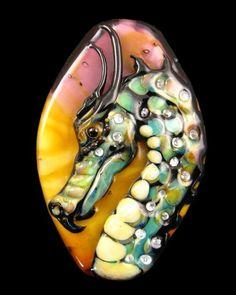 NEW Sunset Lampwork Dragon Focal Bead!