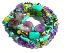 Beaded Bracelet by OlgaJewelryBoutique on Etsy