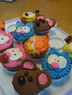 Garfield and Friends Chocolate Cupcakes
