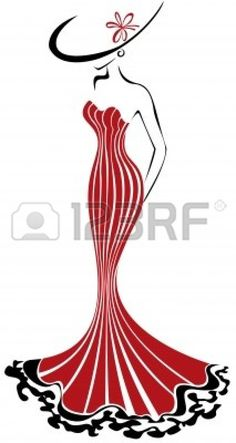 http://www.123rf.com/photo_10851060_silhouette-of-a-slender-woman-in-a-long-red-dress-and-hat.html
