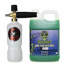 Chemical Guys EQP_312 TORQ Professional Foam Cannon and Honeydew Snow Foam Cleanser (1 Gal) - Turn your weekly car wash into a fabulous foam party combining our most Foam-Tastic foam cannon with one gallon of Honeydew Snow Foam Cleanser. This foam cannon kit is the perfect choice for the detailing professional or weekend warrior looking to wash any vehicle using the amazing cleaning power...