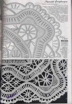 freeform irish crochet motifs irlandzkie wzory szydełkowe