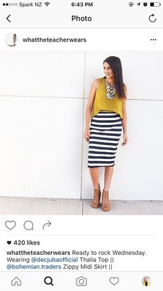Bohemian Traders skirt!  Love it with yellow and a statement necklace