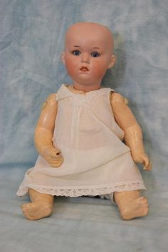 "Antique 11"" Armand Marseille 251 Baby Character German Bisque Doll from turnofthecenturyantiques on Ruby Lane"
