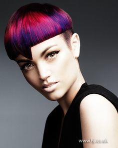 Pink and purple crop with an undercut    Hairstyle by: Mark Leeson  Hairstyle picture by: Andrew O'Toole  Salon: Mark Leeson Hair, Body & Mind  Location: Mansfield