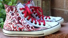 (converse) Red All Star Chuck Taylor High Shoes Sz Men's 7.5 Women's 9.5 #Converse #AthleticSneakers