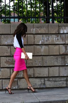The Closet Confessional: Outfit Post: Borrowed From the Boys Love this pencil skirt
