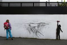 Drift - Street Art by Pejac at Nuart in Stavanger, Norway. A tribute to norwegian Edvard Munch 3