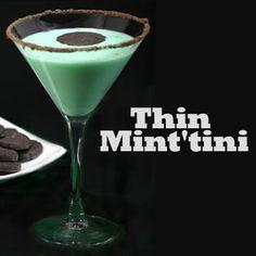 Chocolate Mint Liqueur, Vodka And Vanilla Ice Cream Shake ...