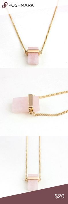 ANTHROPOLOGIE Rose Quartz Necklace ANTHROPOLOGIE Rose Quartz Necklace. Real Rose Quartz Pendant on gold chain. 💕 Anthropologie Jewelry Necklaces