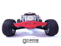 T-BONE RACING THRASHER FRONT BUMPER FOR TRAXXAS RUSTLER - RED