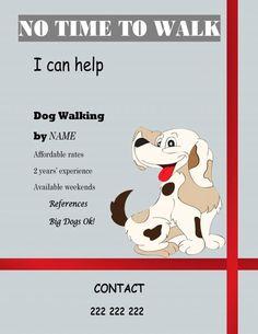 free templates dog walking