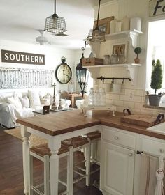 chic kitchen Decor Steals is a daily deal home decor store featuring CRAZY deals on Vintage decor, Rustic decor, Farmhouse Decor, Industrial Decor and Shabby Chic decor! Grab your morning coffee everyday at EST & come Join us! Shabby Chic Farmhouse, Farmhouse Kitchen Decor, Shabby Chic Homes, Shabby Chic Decor, Vintage Home Decor, Country Kitchen, New Kitchen, Rustic Decor, Farmhouse Style