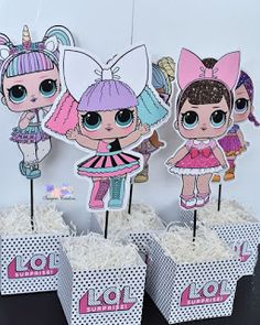 The centerpiece at this LOL Surprise Dolls birthday party i 7th Birthday Party Ideas, Birthday Party Centerpieces, Birthday Party Tables, 5th Birthday, Ideas Party, Table Centerpieces, Decoration Communion, Best Birthday Surprises, Surprise Birthday