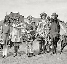 June 17, 1922. Group winners of Tidal Basin Beauty Contest.