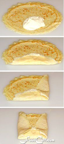 Jewish style blintzes made the same way Bubbie did - best served with sour cream. Breakfast Items, Breakfast Dishes, Breakfast Recipes, Dinner Crepes, Dessert For Dinner, Crepes And Waffles, Savory Crepes, Ukrainian Recipes, Jewish Recipes