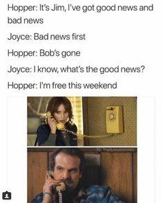 Lol I ship Joyce and Hooper, but Bob must have a calm. Stranger Things Have Happened, Stranger Things Funny, Stranger Things Season, Saints Memes, Stranger Danger, Book Fandoms, Best Tv, Favorite Tv Shows, I Laughed