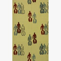 "Angelo Testa, ""Little Men"" fabric, ca. 1960. Cotton."