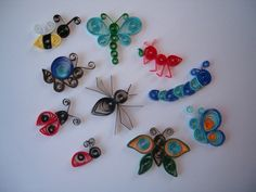 Quilled bug set