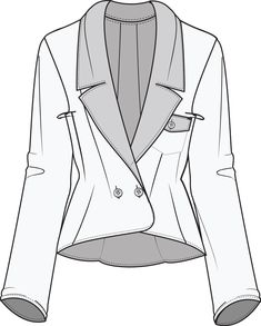 blazer - A long-sleeved sports jacket with lapels.