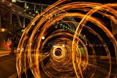 Alex KesLight Painting - Light Art - Photography - Alex Kess - Sydney - 2013 - #lightpainting #lightart #art #photography Light Painting Photography, Fire Photography, Long Exposure, Light Art, Contemporary Art, Cool Stuff, Sydney, Image, Photos