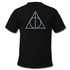 Deathly Hallows Symbol, Magic, Sorcery, Fantasy Camisetas - Camiseta hombre de American Apparel