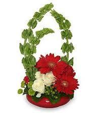 Image result for bells and bows floral arrangement