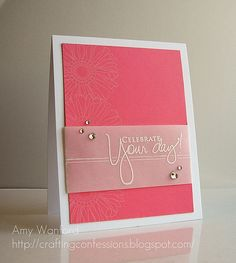 Lovely card on Crafting Confessions by Amy Wanford