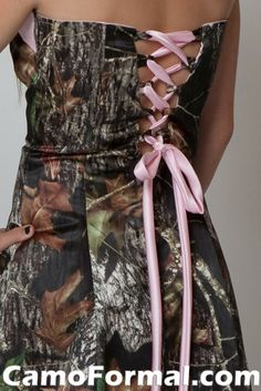 Pink Camo corset Wedding Dresses   short camo dresses for homecoming and prom camouflage prom wedding
