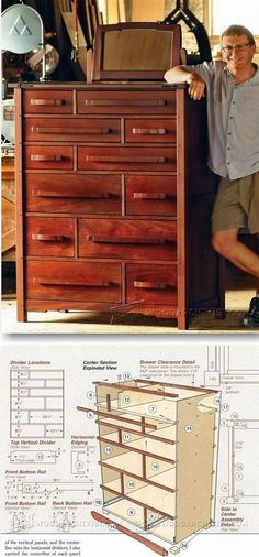Dresser Plans - Furniture Plans and Projects | WoodArchivist.com #woodworkingideas